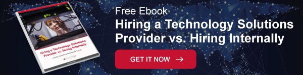Hiring a technology solutions provider vs hiring internally