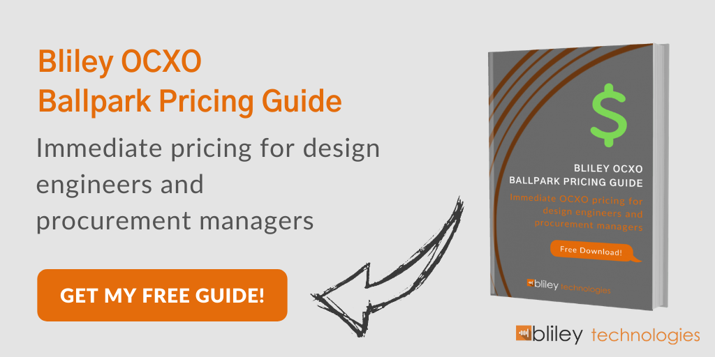 Bliley OCXO Oscillator Pricing Guide Download