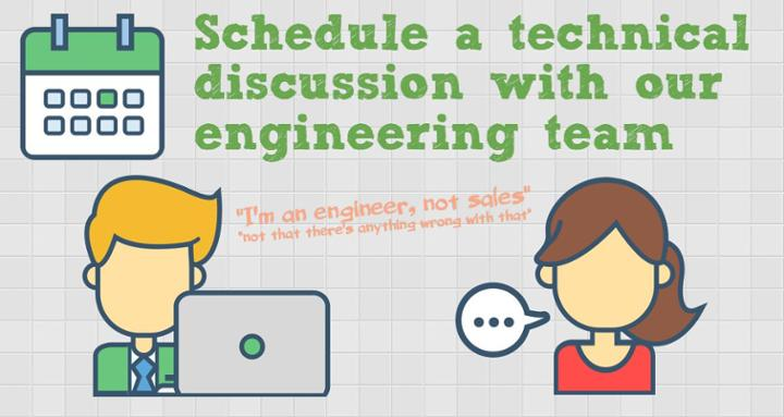 Schedule a technical discussion with our engineers