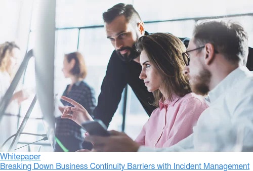 Whitepaper  Breaking Down Business Continuity Barriers with Incident Management