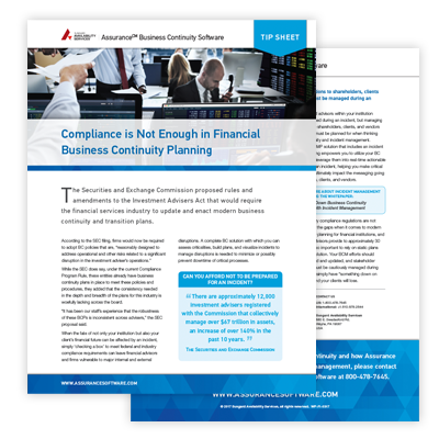 Financial Industry Tip sheet
