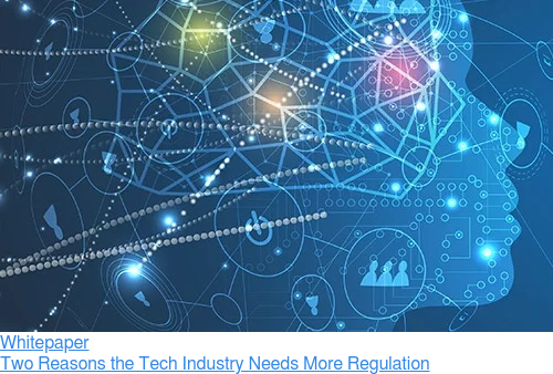 Whitepaper  Two Reasons the Tech Industry Needs More Regulation
