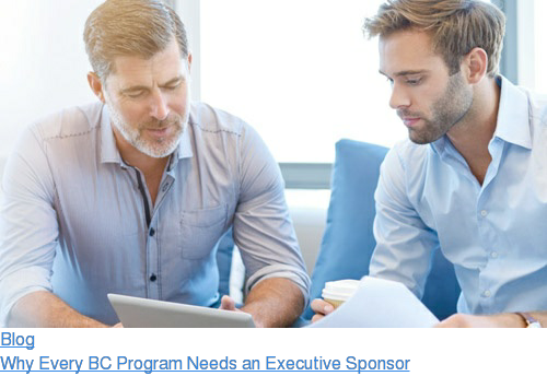 Blog  Why Every BC Program Needs an Executive Sponsor