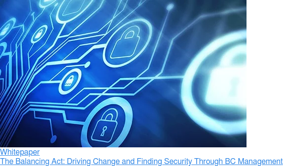 Whitepaper  The Balancing Act: Driving Change and Finding Security Through BC Management
