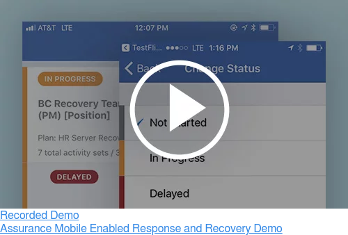 Recorded Demo  Assurance Mobile Enabled Response and Recovery Demo
