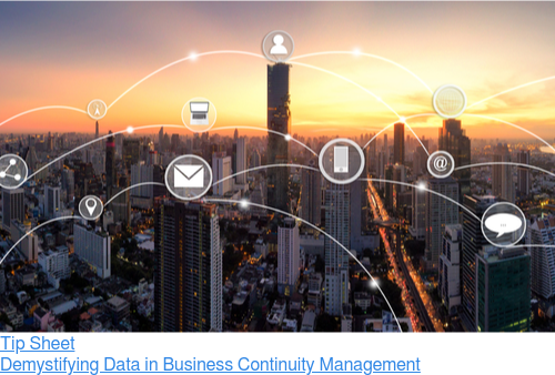 Tip Sheet  Demystifying Data in Business Continuity Management