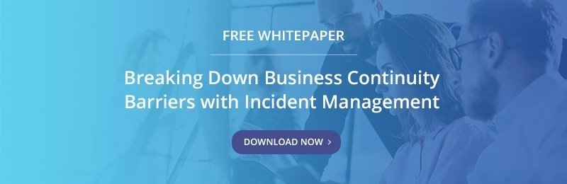 Free Whitepaper - Breaking Down Business Continuity Barriers with Incident Management