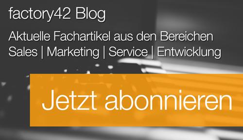 Jetzt für factory42 Blog anmelden