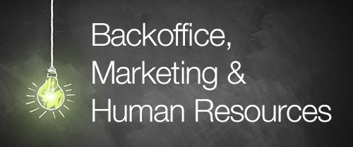 Hier geht's zu den Positionen im Bereich Backoffice, Marketing & HR