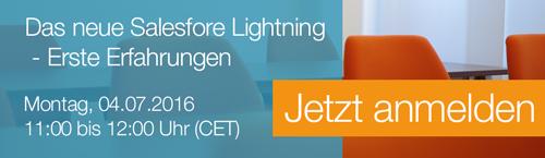 Erste Erfahrungen mit Salesforce Lightning - jetzt zum Webinar anmelden!