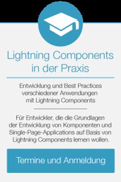 Lightning Components in der Praxis - Termine und Anmeldung
