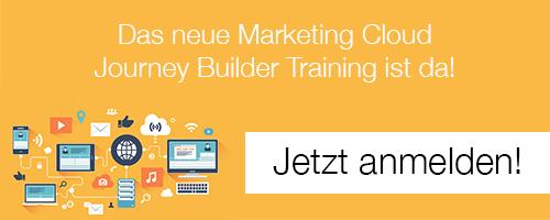 Marketing Cloud Journey Builder Training Anmeldung