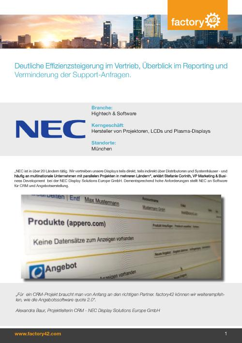NEC Referenz als PDF downloaden