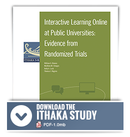 Ithaka S+R Study on Interactive Learning