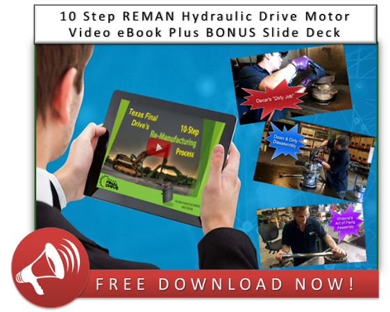 10 Step REMAN Hydraulic Drive Motor Video eBook