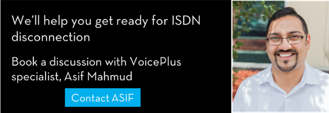 ISDN disconnection advice from VoicePlus