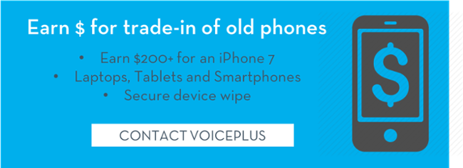 Trade in phones Contact VoicePlus