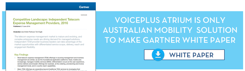 VoicePlus only Australian solution in Gartner white paper