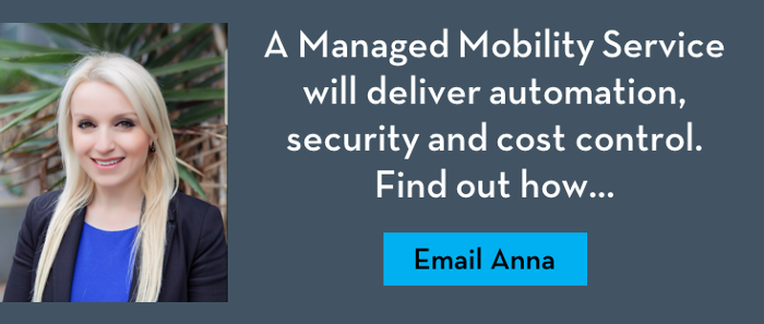 VoicePlus managed mobility service automation, security, cost control