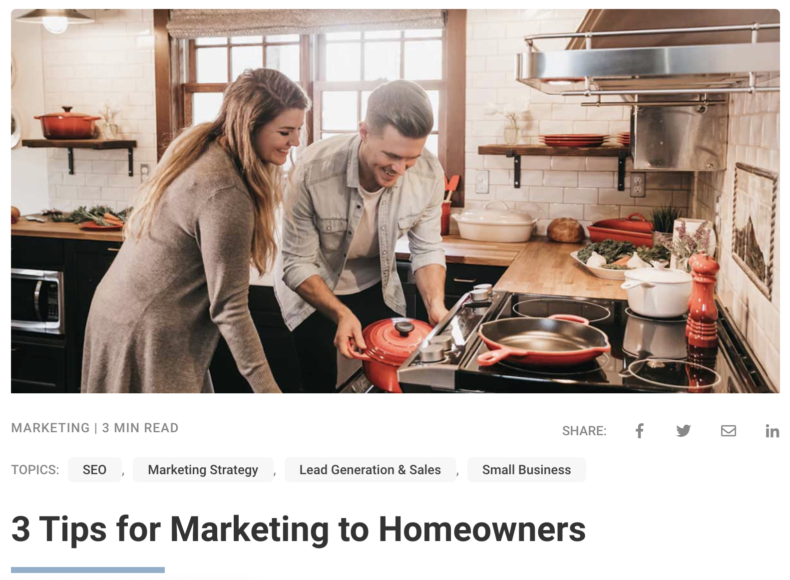 3 Tips for Marketing to Homeowners