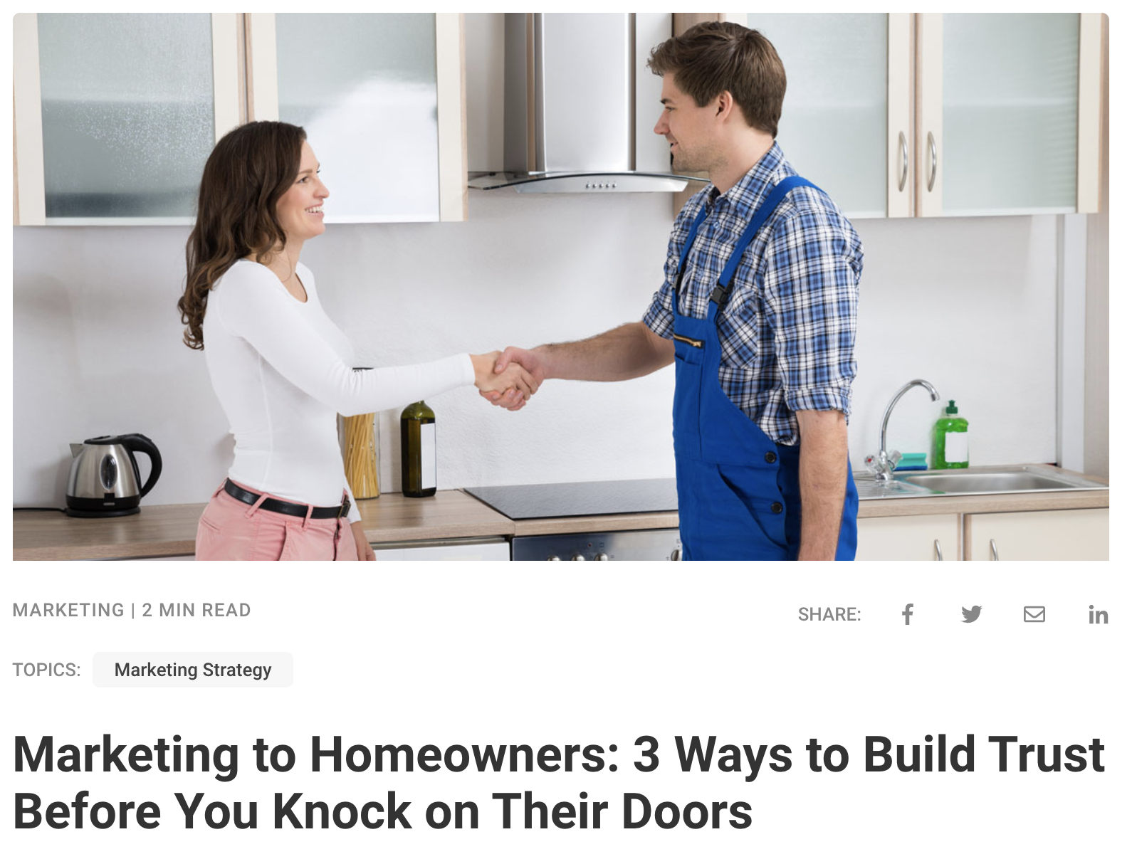 Marketing to Homeowners