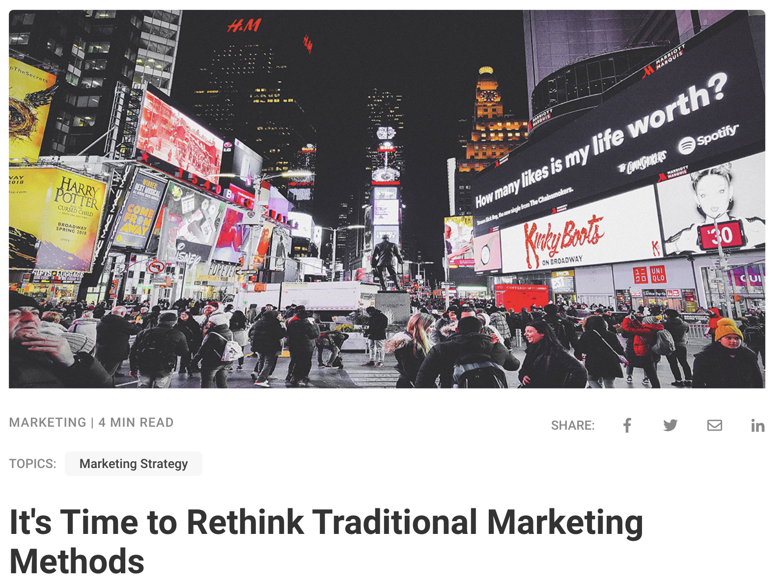 Rethink traditional