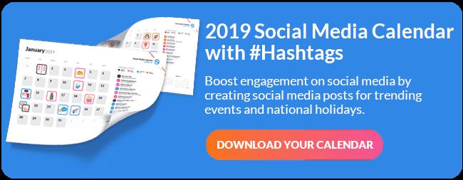 Social Media Events Calendar PDF CTA