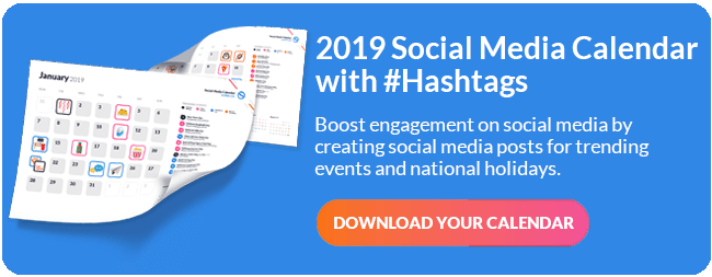 Social Media Events Calendar PDF CTA