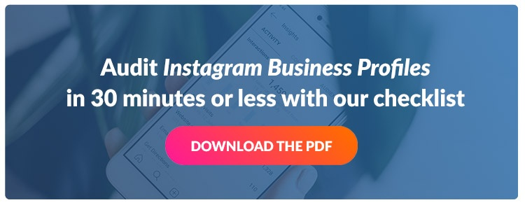 CTA - Instagram Audit Checklist PDF