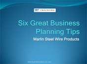 Marlin Steel Six Great Business Planning Tips