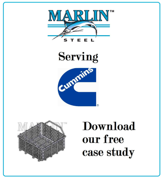 Marlin Steel case study of Cummins baskets