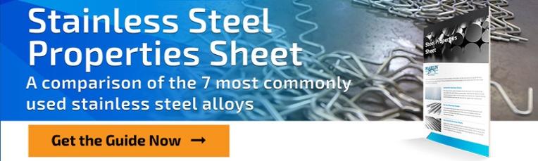 Feuille de propriétés en acier inoxydable de Marlin Steel