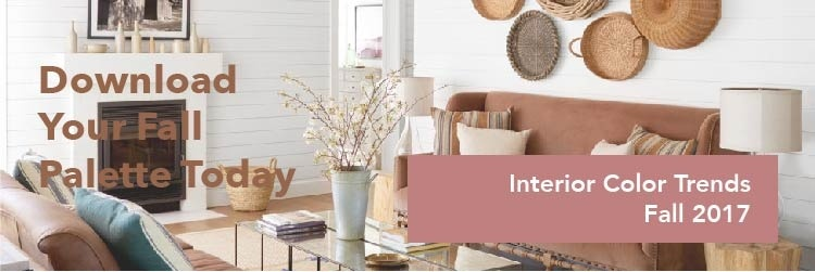 2017 interior color trends fall '17 palette