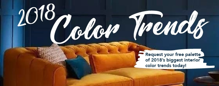 2018 interior color trends palette