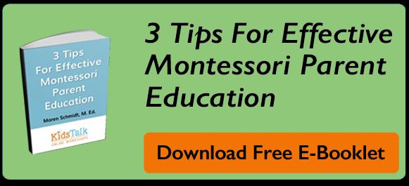 montessori parent education