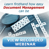 View Recorded Document Mangement Webinar