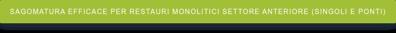 Sagomatura efficace per restauri monolitici settore anteriore (singoli e ponti)