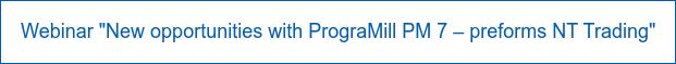 """Webinar """"New opportunities with PrograMill PM 7 – preforms NT Trading"""""""