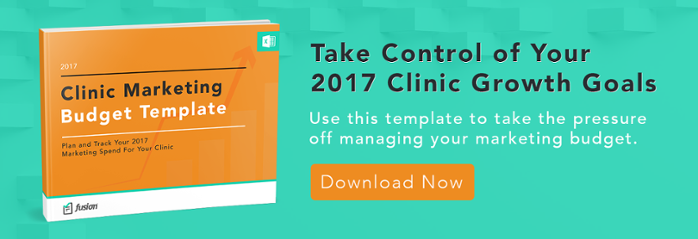 Fusion Web Clinic 2017 Clinic Marketing Budget Template Call to Action