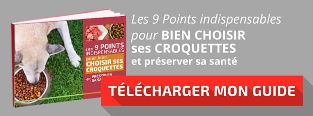 """Télécharger le guide : """"Les 9 points indispensables pour bien choisir ses croquettes"""""""