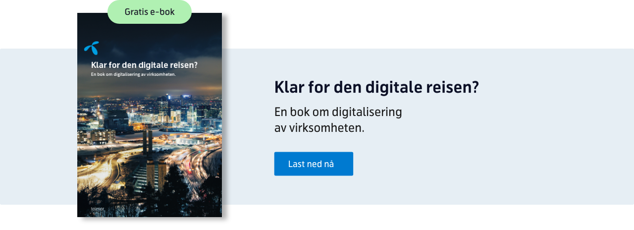 Gratis e-bok: Klar for den digitale reisen? En bok om digitalisering av virksomheten
