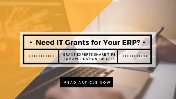 Get tips from grant experts on how to improve success rate for your ERP system application