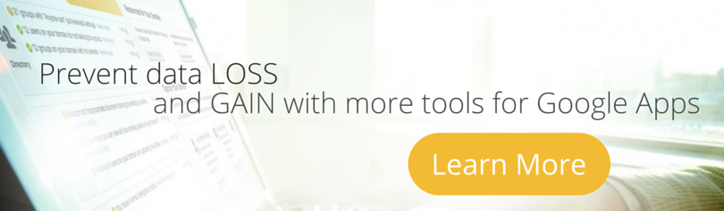 Prevent data loss and gain more admin tools in Google Apps