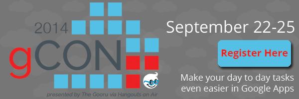 Register for gCON | September 22-25, 2014