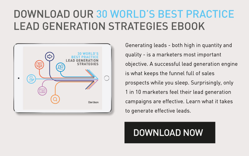 30 World's Best Practice Lead Generation Strategies