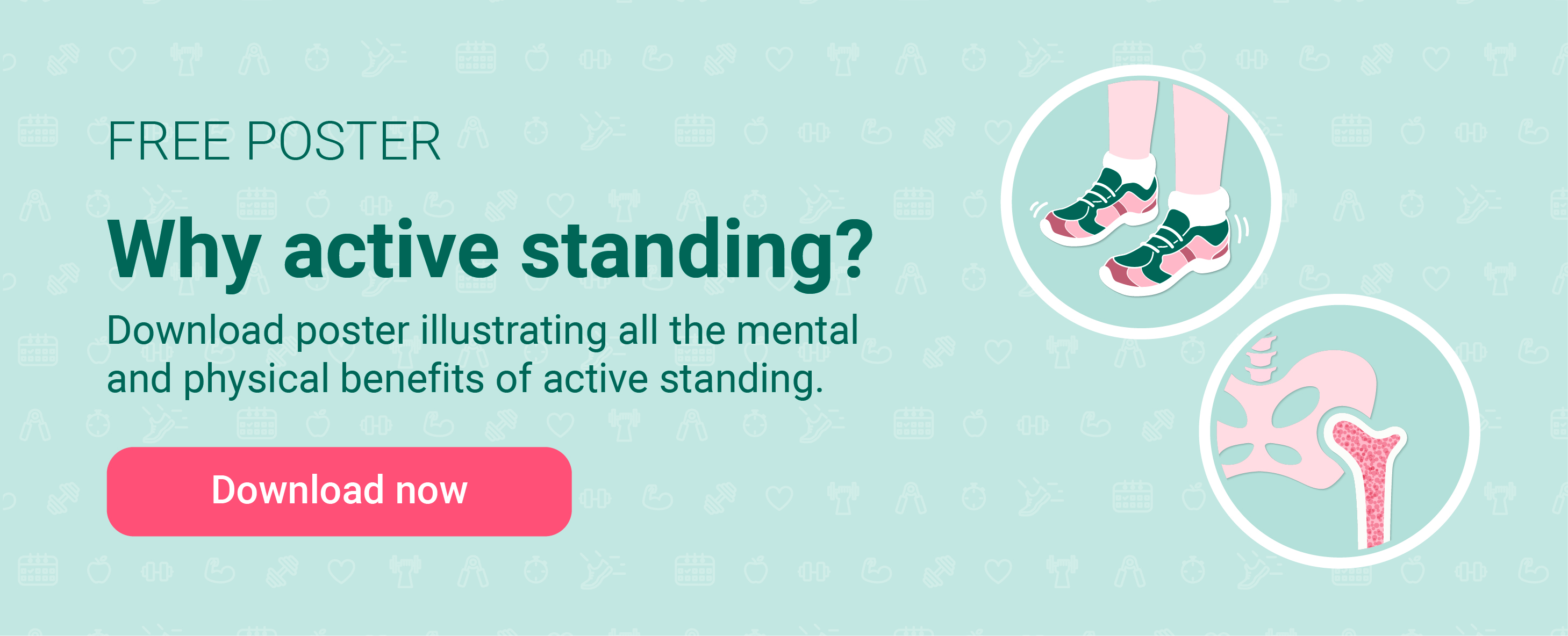 Download free poster about benefits of active standing