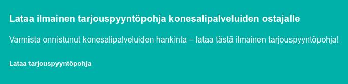 Lataa: Tarjouspyyntöpohja konesalipalveluiden ostajalle