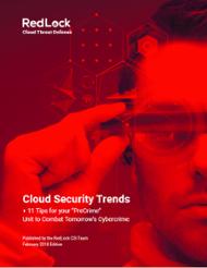 redlock cloud security trends February 2018