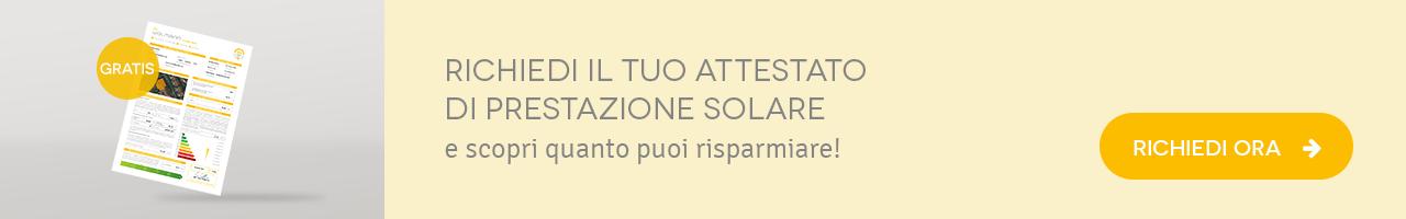 richiedi il tuo attestato di prestazione solare