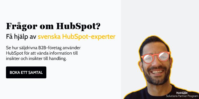 Frågor om HubSpot?  Våra erfarna HubSpot-konsulter ger dig (ärliga) svar.